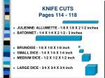 knife cuts pages 114 118