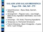 salads and salad dressings pages 538 540 569 575