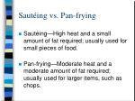 saut ing vs pan frying