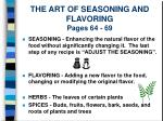 the art of seasoning and flavoring pages 64 69