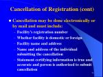 cancellation of registration cont