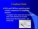 compliance status