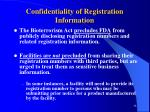 confidentiality of registration information