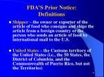 fda s prior notice definitions81