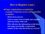 how to register cont