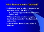what information is optional46