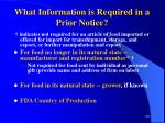 what information is required in a prior notice102