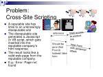 problem cross site scripting