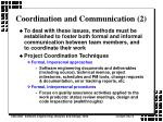 coordination and communication 2