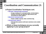coordination and communication 3