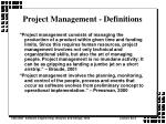 project management definitions