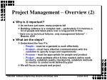 project management overview 2