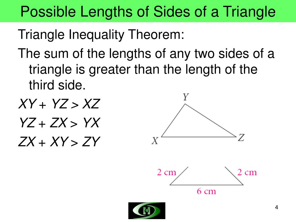 Possible Lengths of Sides of a Triangle