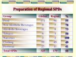 preparation of regional spds