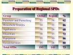 preparation of regional spds5