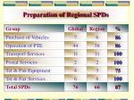 preparation of regional spds6