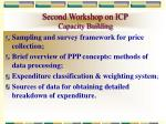 second workshop on icp capacity building