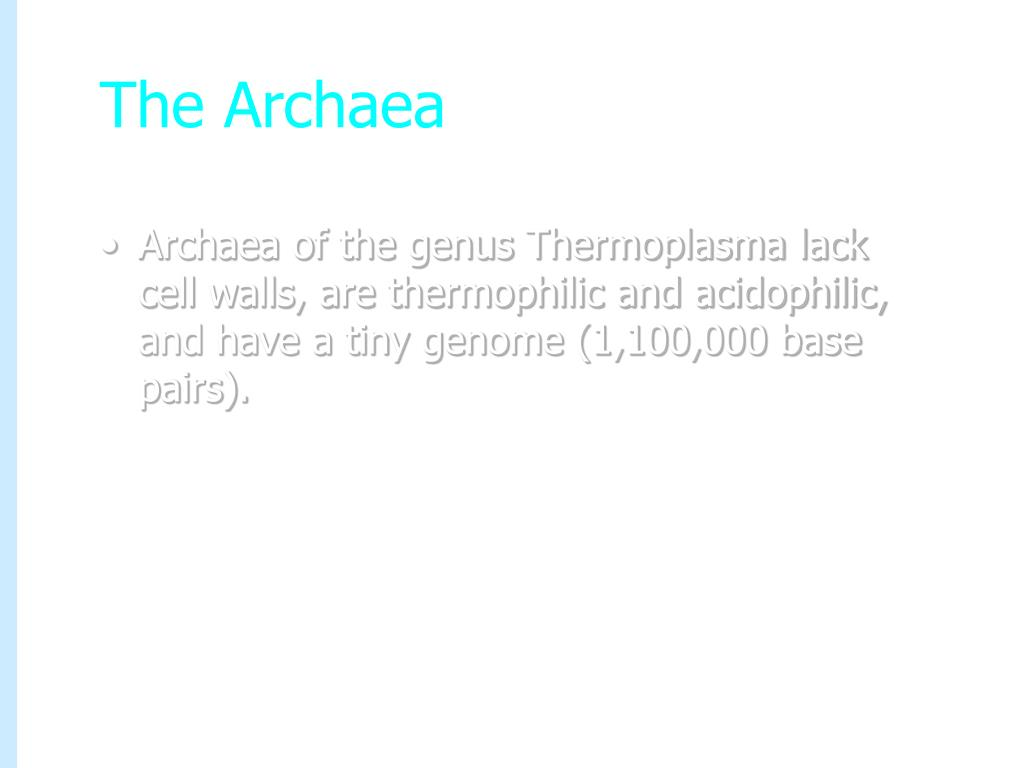 The Archaea