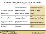 different roles convergent responsibilities