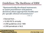 guidelines the backbone of ebm