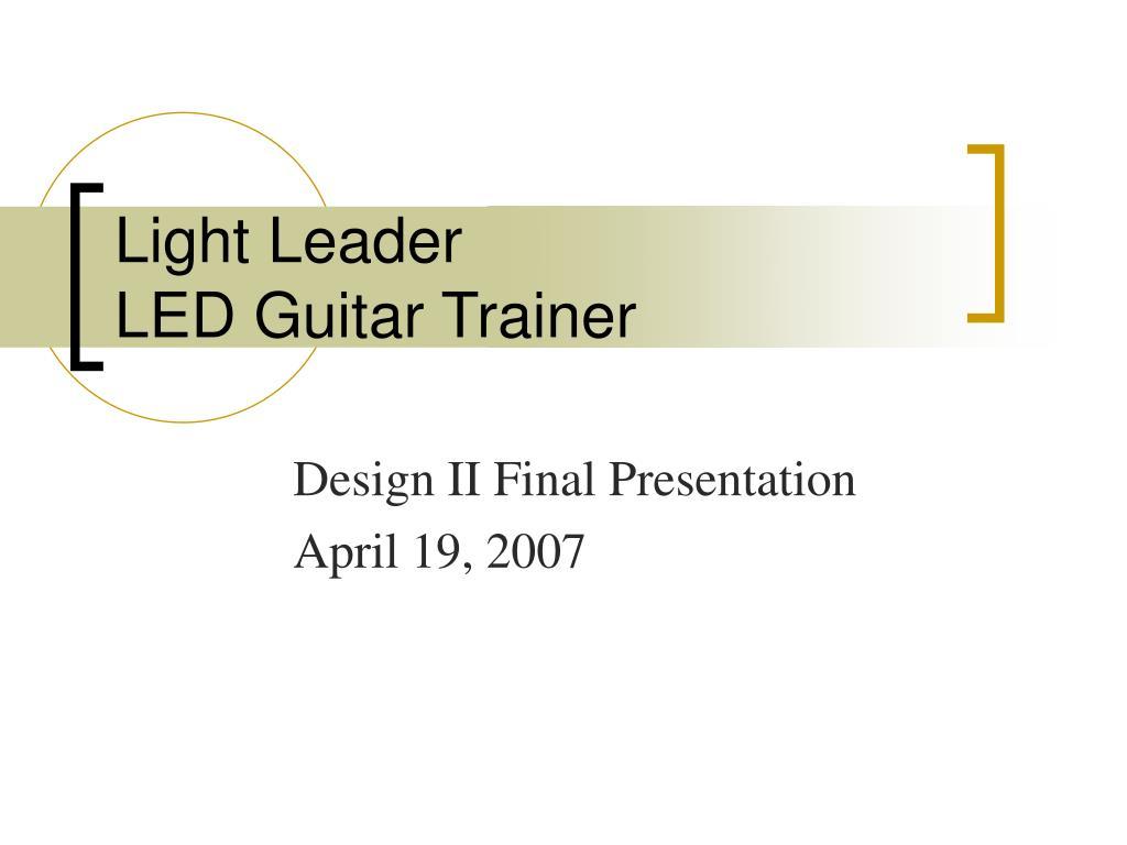 light leader led guitar trainer l.