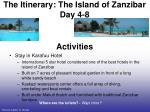 the itinerary the island of zanzibar day 4 8
