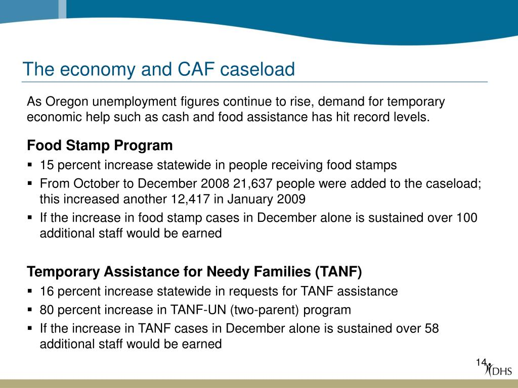 The economy and CAF caseload