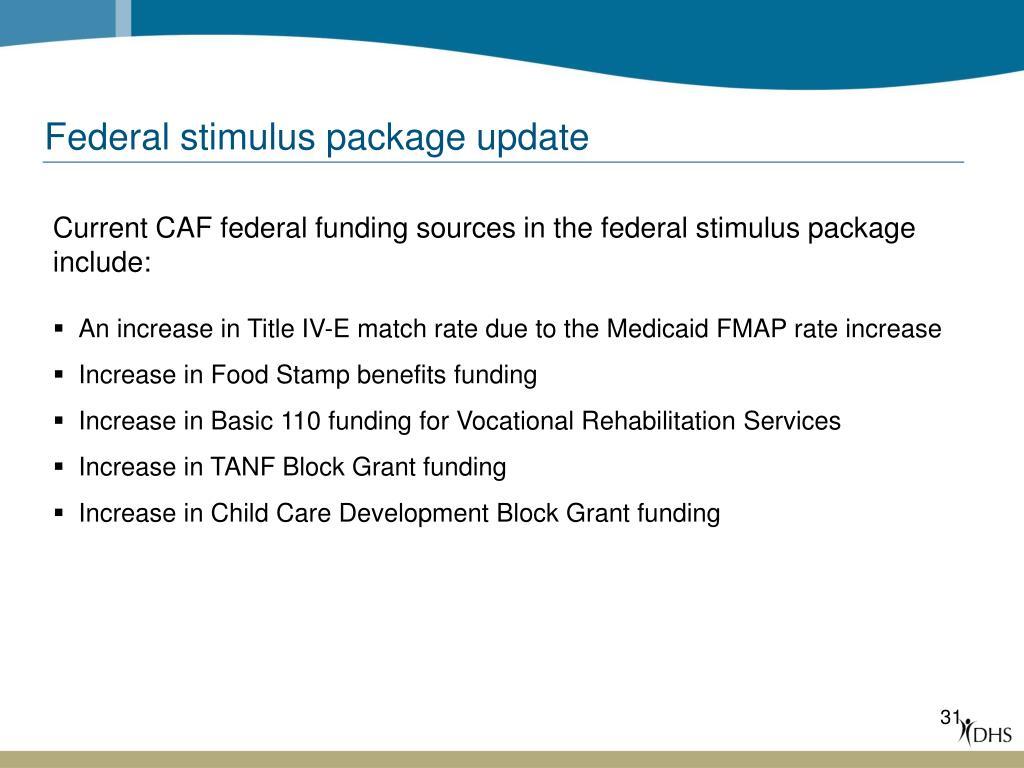 Federal stimulus package update