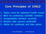 core principles of child