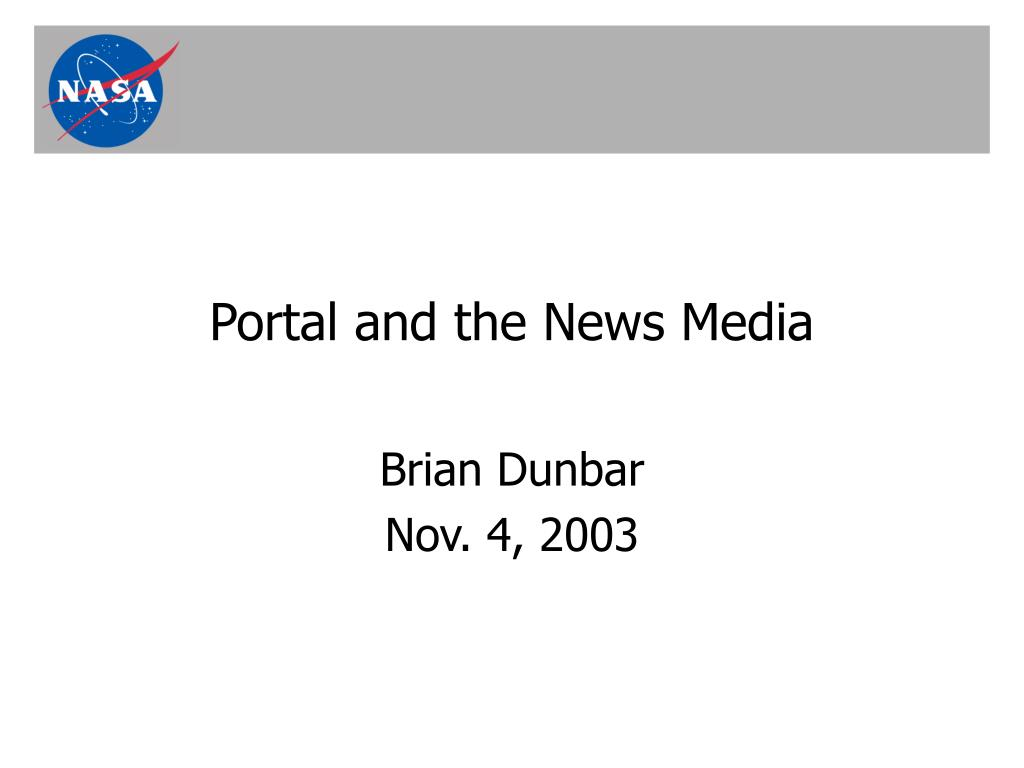 portal and the news media l.