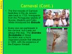 carnaval cont