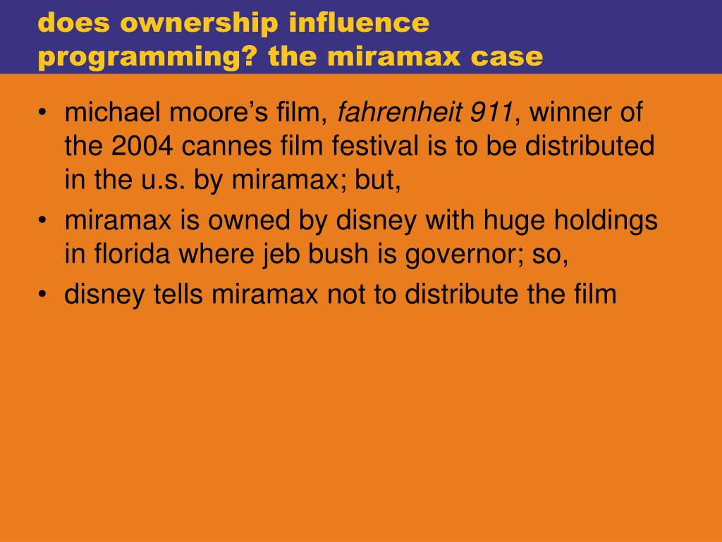 does ownership influence programming? the miramax case