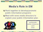 media s role in em