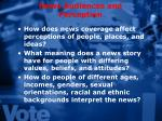 news audiences and perception