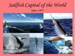 sailfish capital of the world since 1957