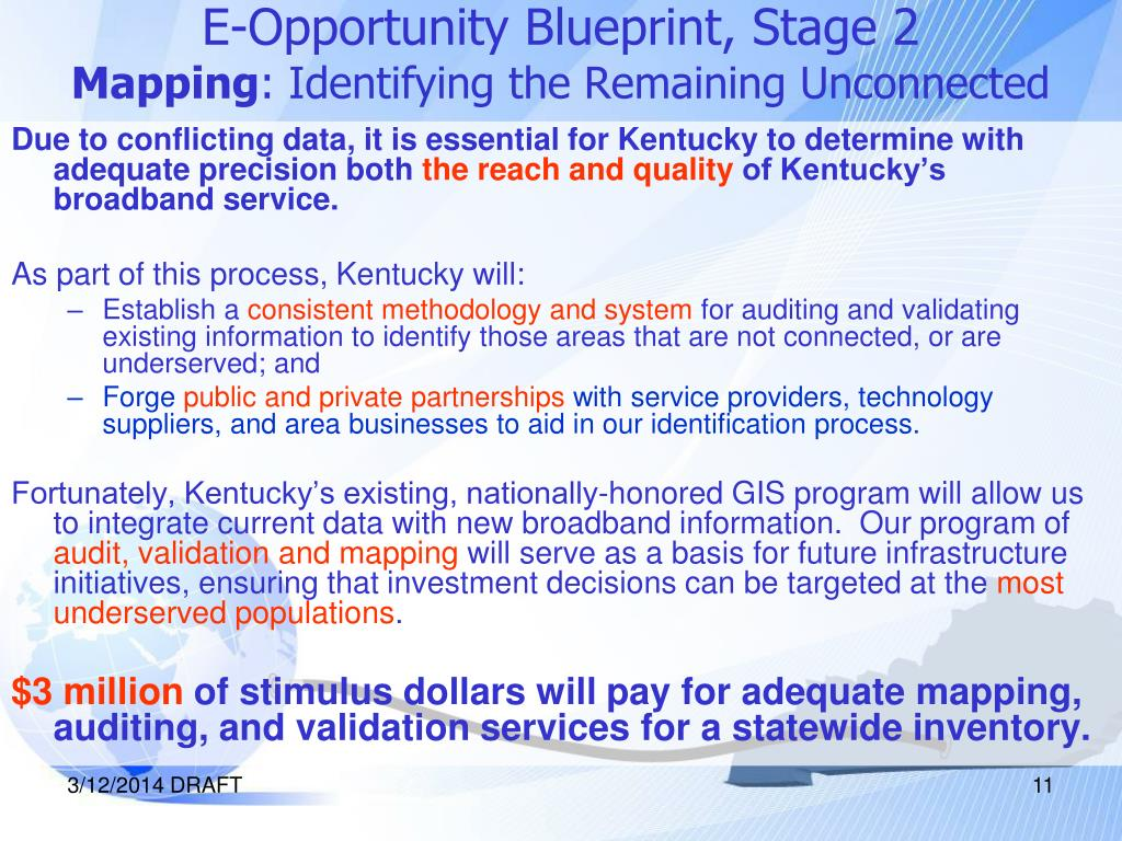 E-Opportunity Blueprint, Stage 2