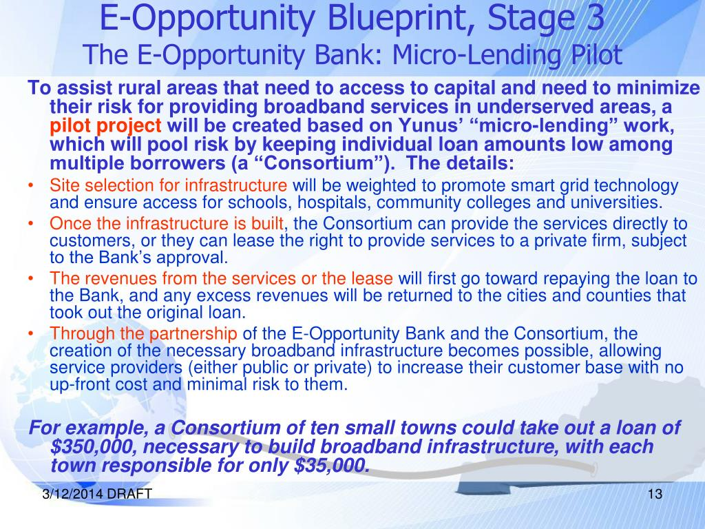 E-Opportunity Blueprint, Stage 3