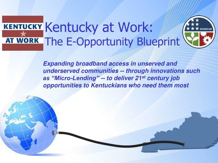Kentucky at work the e opportunity blueprint