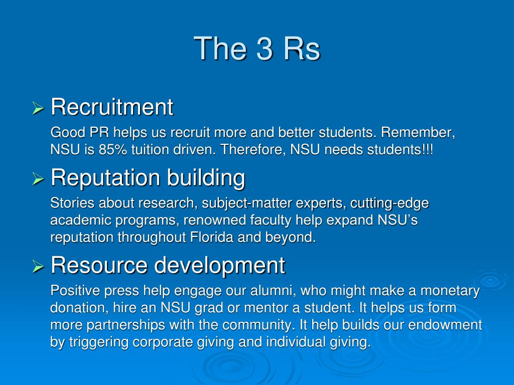 The 3 Rs