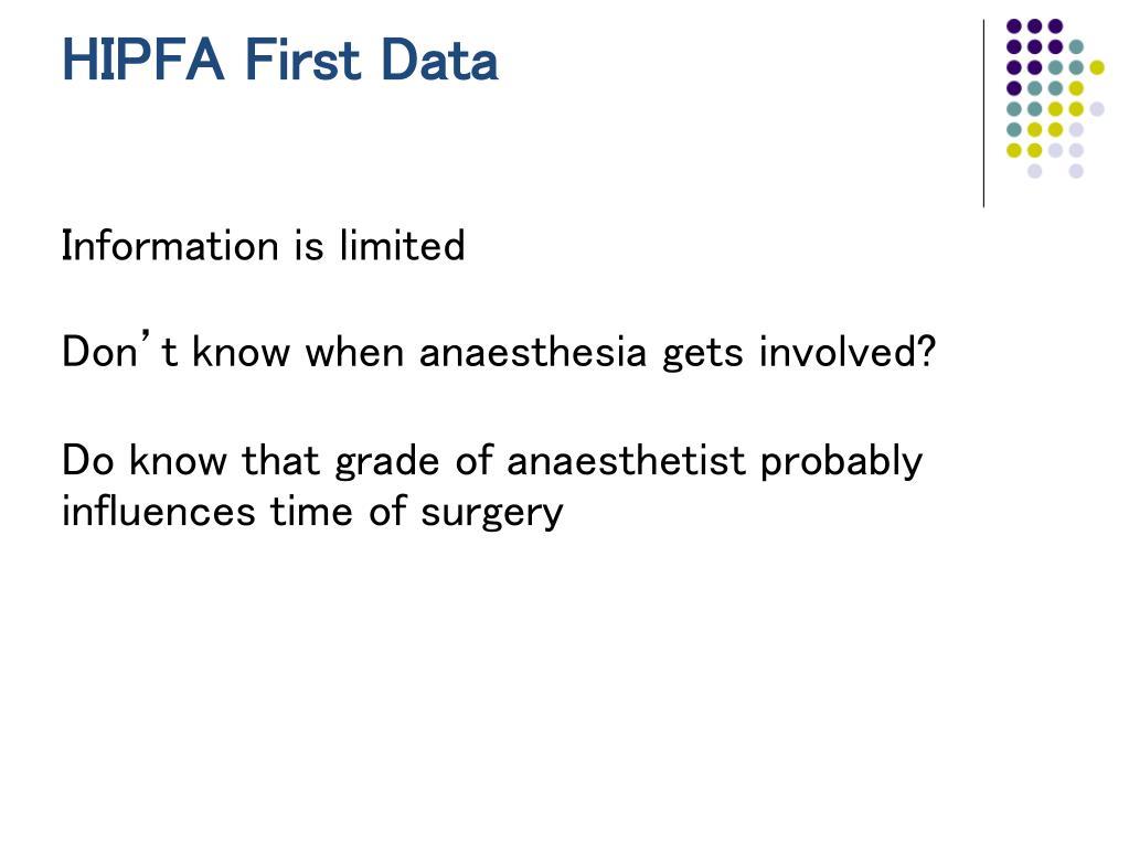 HIPFA First Data