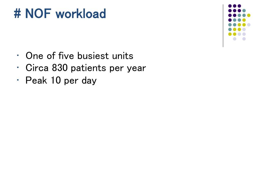 # NOF workload