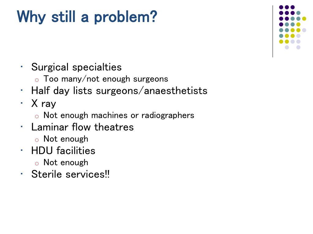 Why still a problem?
