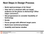 next steps in design process