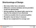 shortcomings of design