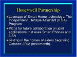 honeywell partnership