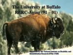 the university at buffalo rerc aging 91 01