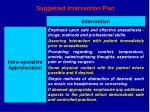 suggested intervention plan32