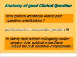 anatomy of good clinical question