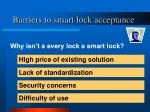 barriers to smart lock acceptance