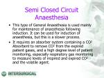 semi closed circuit anaesthesia